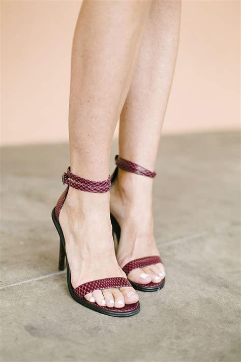 wine colored heels beige and burgundy