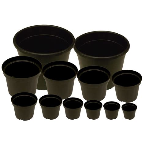 planter pots strong black plastic plant pot flower pots seed