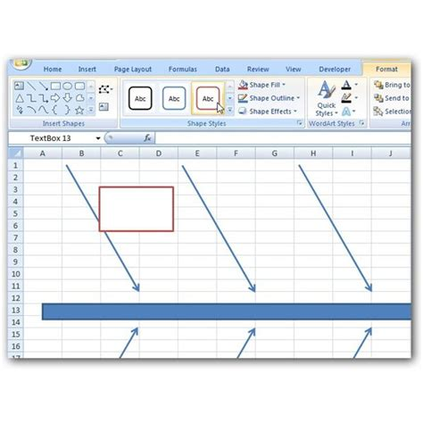 Fishbone Diagram Template Excel by How To Create A Fishbone Diagram In Microsoft Excel 2007