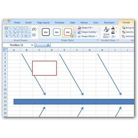 fishbone diagram template xls how to create a fishbone diagram in microsoft excel 2007