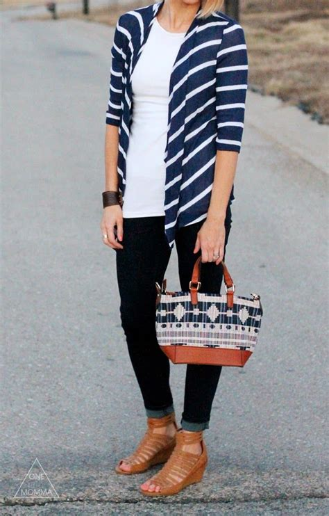 I M Not Stripe S270504 striped cardigan i skinnys would be an easy