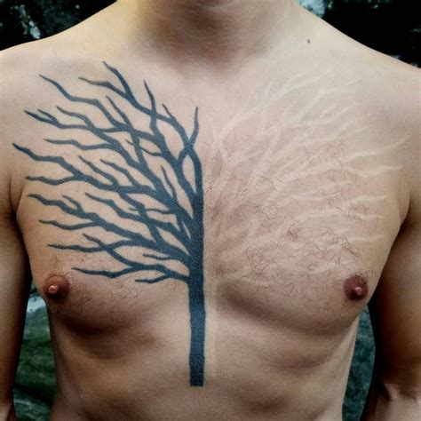 chest tattoo tree black and white tree tattoo on chest best tattoo ideas