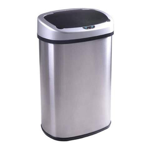 under cabinet trash can with lid stainless steel trash large kitchen garbage cans with lids
