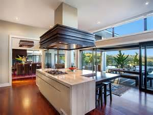 Kitchen Central Island Contemporary Home In The Hills