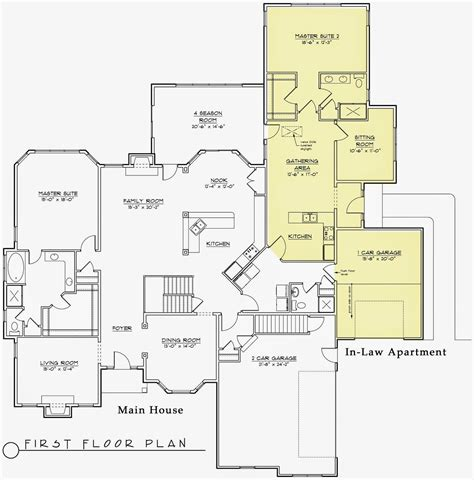 house plans with inlaw suite modern house plans with inlaw suite