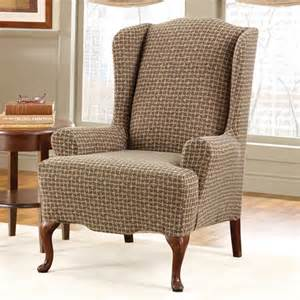 how to cover a wingback chair with a sheet surefit baxter wing chair slipcover walmart