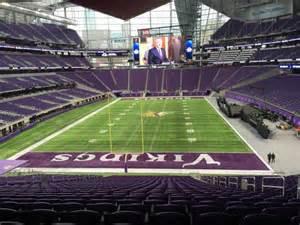 U Section by U S Bank Stadium Section 119 Row 42 Home Of Minnesota