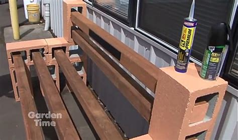 how to build a bench out of cinder blocks how to build a cinder block garden bench parr lumber