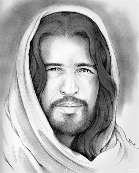 Black And White Drawings Of Jesus by Of Drawing By Greg Joens