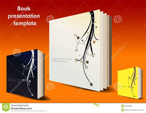 book presentation template royalty free stock photos book presentation template