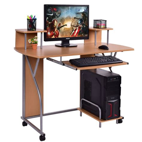 Laptop Workstation Desk by Rolling Computer Desk Pc Laptop Desk Pull Out Tray Home