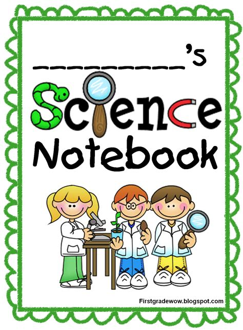 printable science journal kindergarten kids science notebook start up pack 8 page free printable