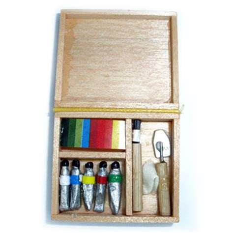 doll house art dollhouse workshop paints paint box wooden miniature dollhouse art box brushes ebay