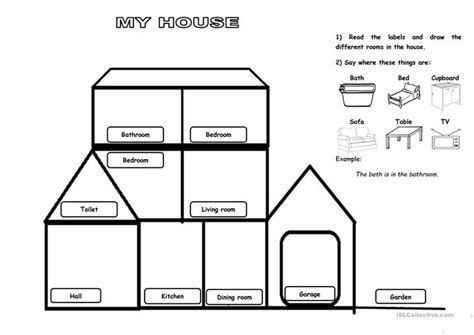 my house printable activities my house worksheet free esl printable worksheets made by