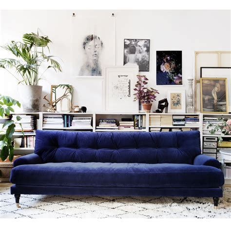 sofa decorating ideas furniture trendy blue velvet design to inspired