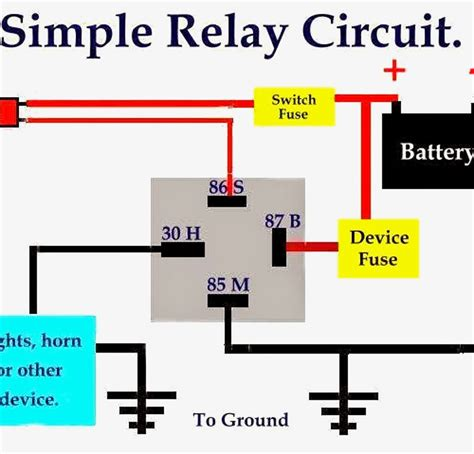 horn wiring diagram with relay wiring diagram with