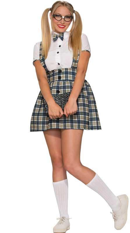 1950 s nerd women s costume women s geek schoolgirl