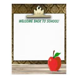 welcome back to stationery letterhead zazzle