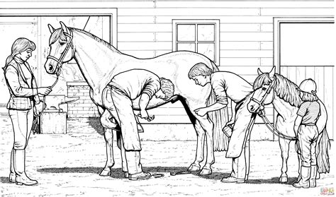 coloring pages of horses and ponies horse and pony coloring page free printable coloring pages