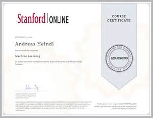coursera machine learning received certificate as machine learning expert heindl