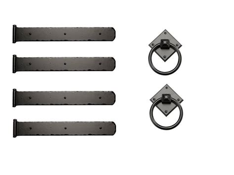 rustic series  mission strap hinges  diamond ring