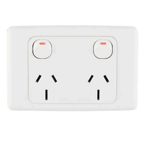 Modern Electrical Switches For Home deta 15a double power point i n 4430422 bunnings warehouse