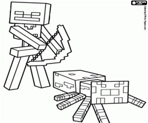 minecraft coloring pages cave spider spider jockey of minecraft coloring page printable game