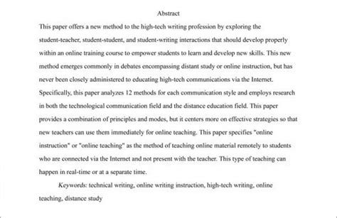 Help Me Write Anthropology Dissertation Abstract by Gallery Exle Of An Apa Abstract Drawings Gallery