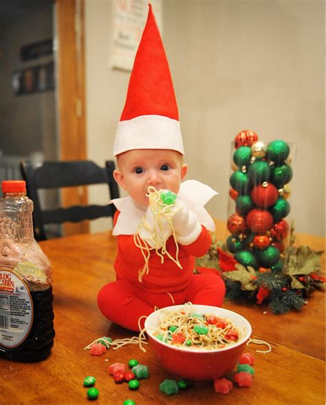 dad turns baby into elf on the shelf usa today dad turns 4 month old into the world s cutest elf on the