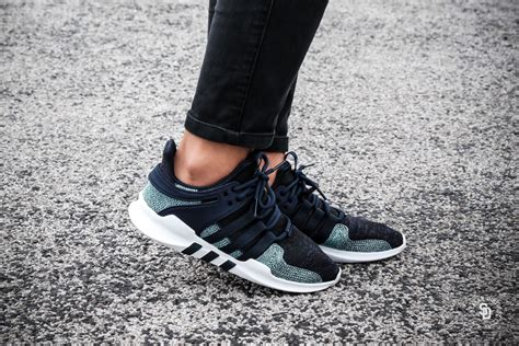 X Support Blue adidas x parley eqt support adv blue white cq0299