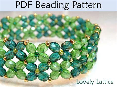lovely lattice bracelet pdf beading pattern simple bead