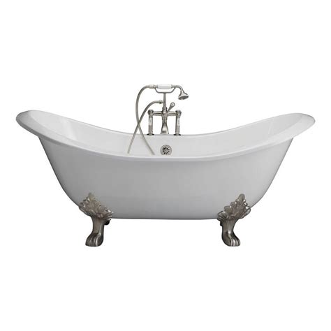 cast iron bathtub home depot barclay products cast iron double slipper tub