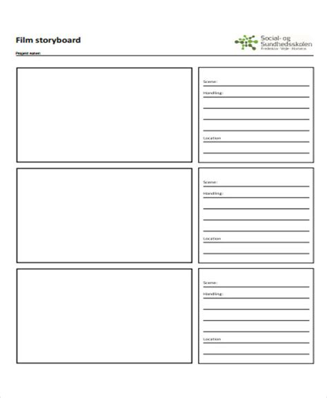 Blank Storyboard Template by 15 Storyboard Templates Free Premium Templates