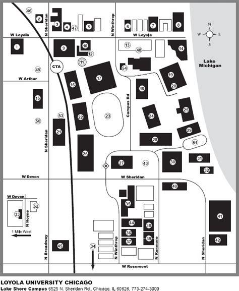 loyola chicago map loyola center map images