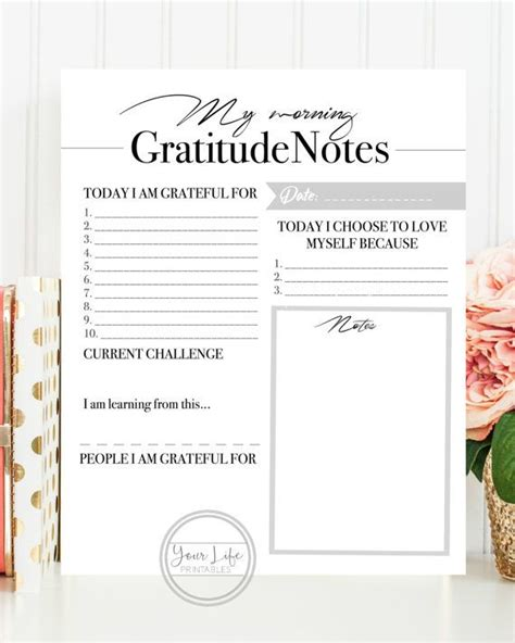 free printable gratitude journal 25 best ideas about gratitude journals on pinterest
