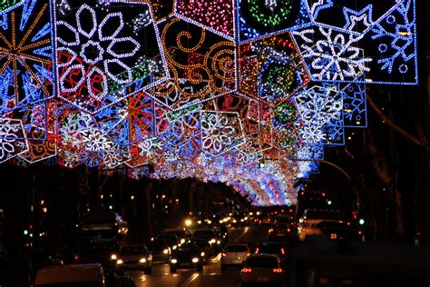 barcelona christmas lights 1 owiman photos and travels