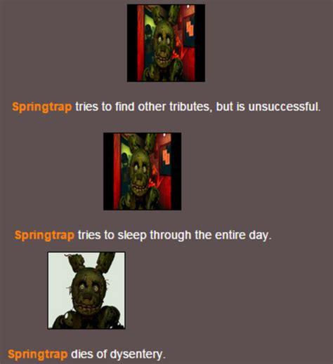 springtrap  springtrap hunger games simulator