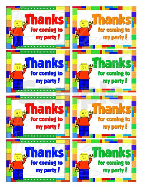printable lego gift tags 9 best images of printable lego thank you free printable