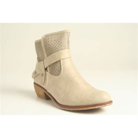 summer boots rieker summer ankle boot with cowboy style heel and punch