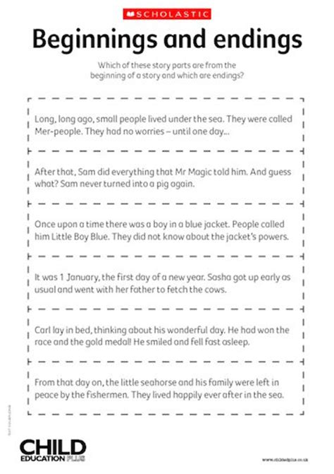 beginnings and endings free primary ks1 teaching