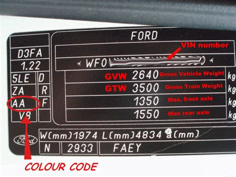 ford transit forum view topic paint colour
