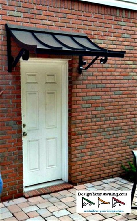 single door awning the concave gallery metal awnings projects gallery