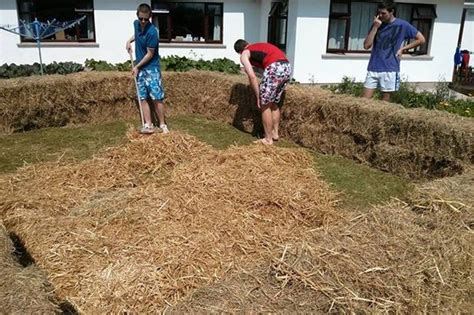 how to build a hay bale swimming pool build your own swimming pool from bales of hay home