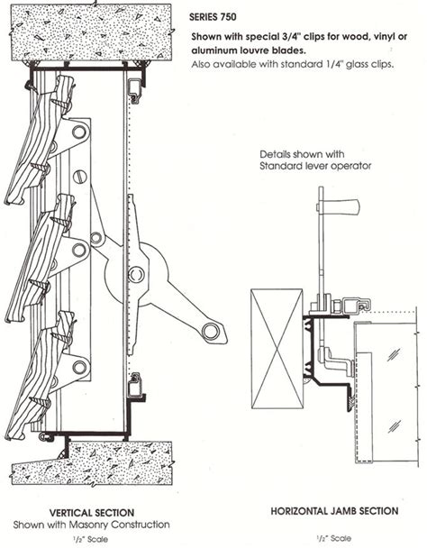 Bow Window Construction Detail jalousie series 750 international window corporation