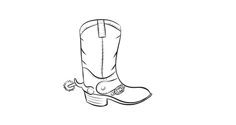 Free Coloring Pages Of Cowboy Boot And Hat Drawing Of A Cowboy Boot Printable