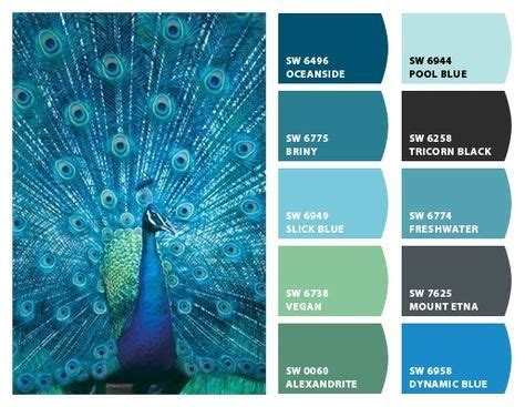 chip   sherwin williams home color palettes peacock color scheme bedroom color