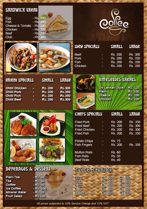 desain daftar menu makanan cdr iseng iseng desain contoh desain menu makanan
