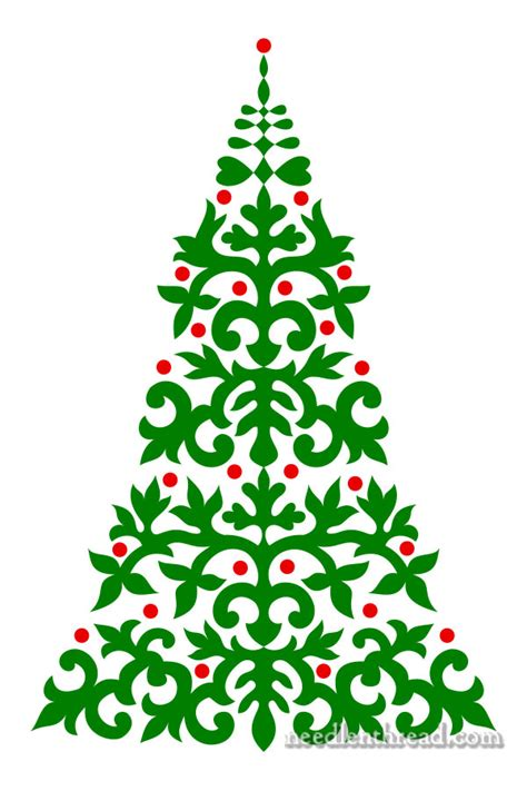christmas tree pricking pattern embroider a christmas tree needlenthread com