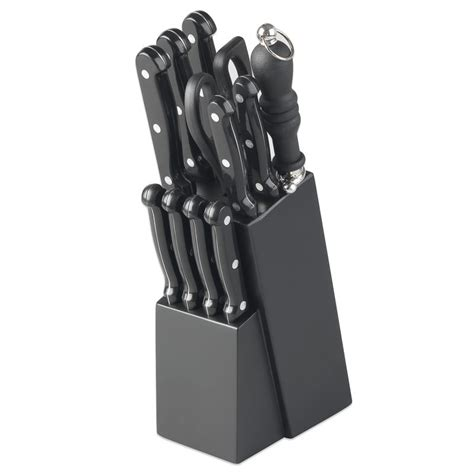Hobbs Knife Set hobbs magnus knife block 12pc home kitchen b m