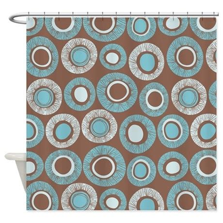 pattern blue brown dot pattern brown blue shower curtain by admin cp45405617